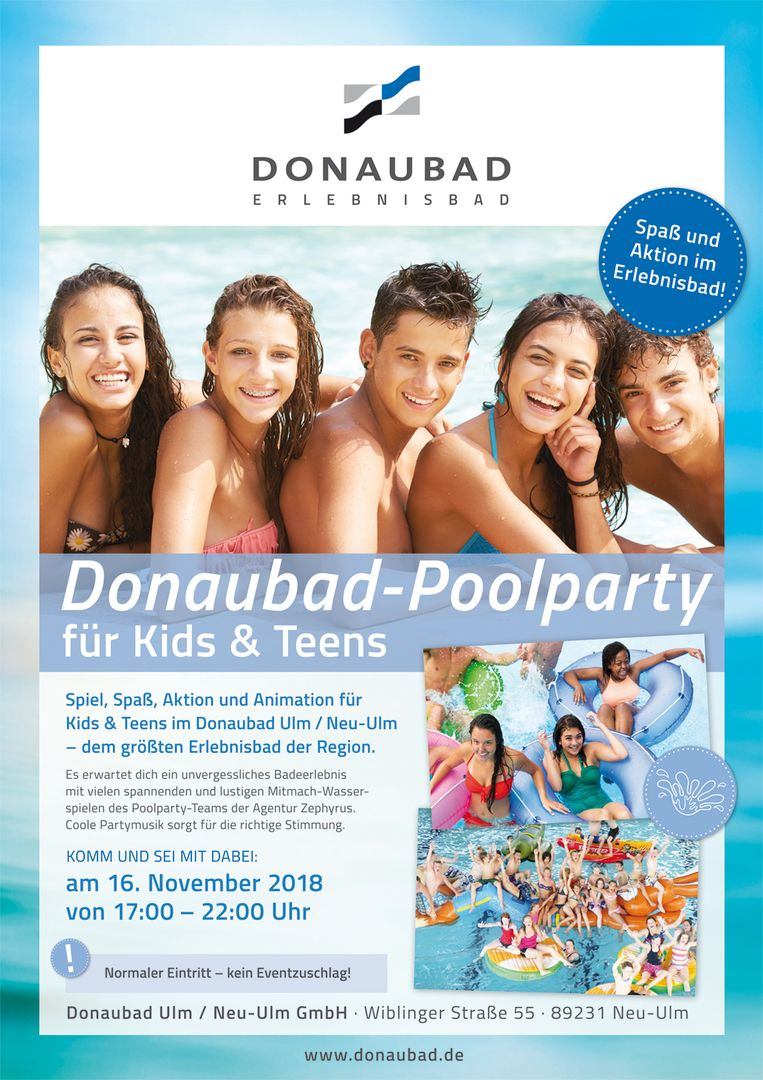 Donaubad-Poolparty für Kids & Teens